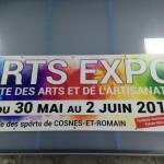 ARTS EXPO / bâche 75*200 cm - création et impression dans nos locaux