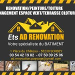 Ets AD RENOVATION / Panneaux de chantiers 60*80 avec oeillets