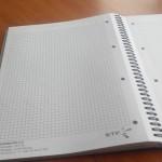 Cahier ETF - avec reliure wire'o 100ex